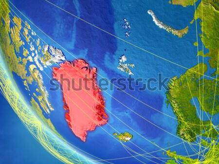 Исландия красный орбита пространстве цвета 3d иллюстрации Сток-фото © Harlekino