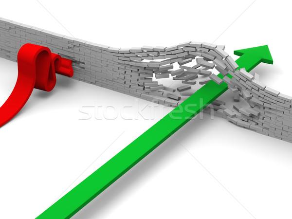 провал прорыв иллюстрированный стрелка кирпичная стена стены Сток-фото © Harlekino