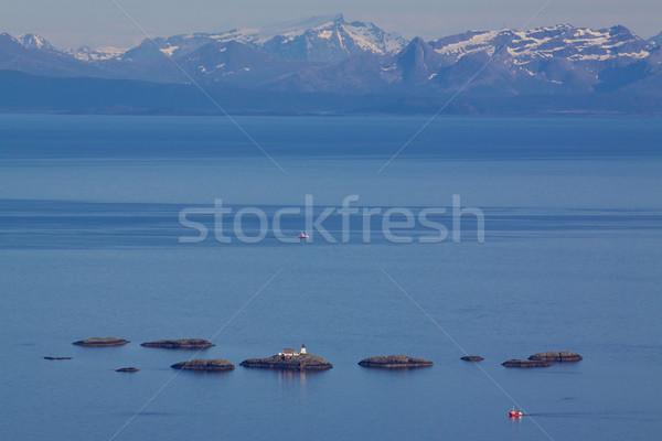 Latarni norweski morza malutki wybrzeża Zdjęcia stock © Harlekino