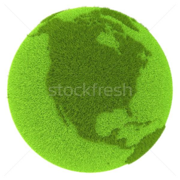 North America on green planet Stock photo © Harlekino