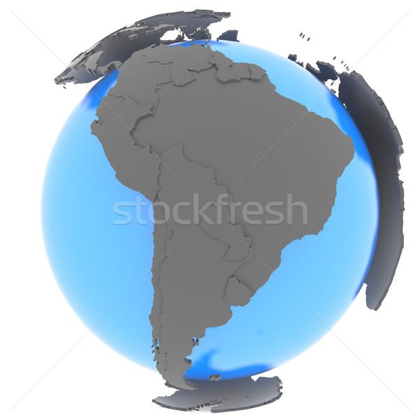 Güney amerika dünya ayakta dışarı mavi toprak Stok fotoğraf © Harlekino