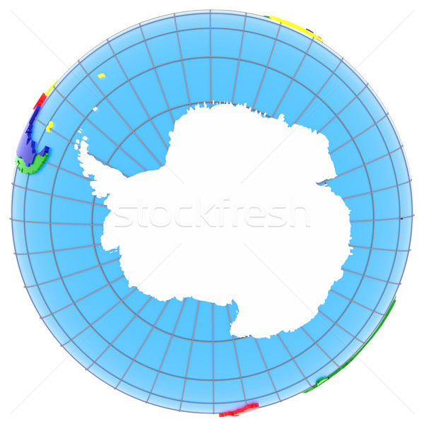 Terra geografico net isolato bianco modello Foto d'archivio © Harlekino