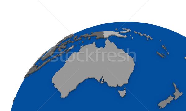 Avustralya toprak siyasi harita dünya seyahat Stok fotoğraf © Harlekino