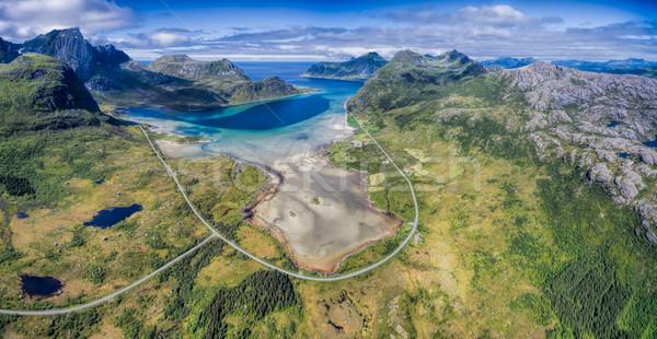 Scenic road panorama Stock photo © Harlekino