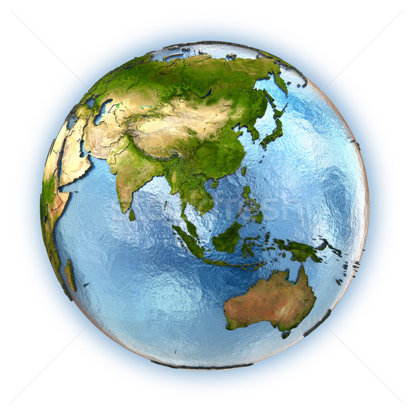 Güneydoğu asya dünya gezegeni kıtalar ülke yalıtılmış Stok fotoğraf © Harlekino
