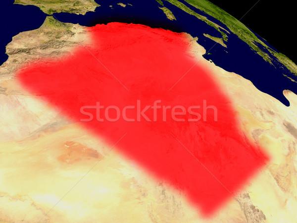 アルジェリア スペース 赤 3次元の図 詳しい ストックフォト © Harlekino