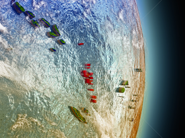 Vanuatu Rood ruimte model 3d illustration Stockfoto © Harlekino