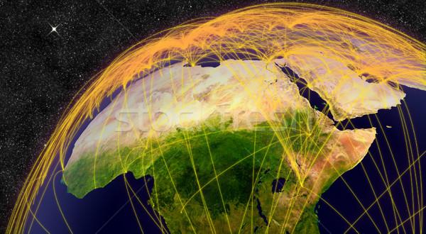 Воздушные путешествия север Африка сеть Элементы изображение Сток-фото © Harlekino