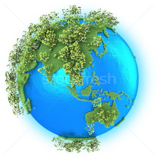 Sud-est asiatico Australia pianeta terra erboso cotone isolato Foto d'archivio © Harlekino