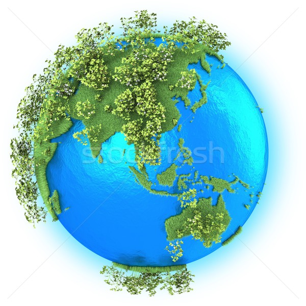 Southeast Asia and Australia on planet Earth Stock photo © Harlekino