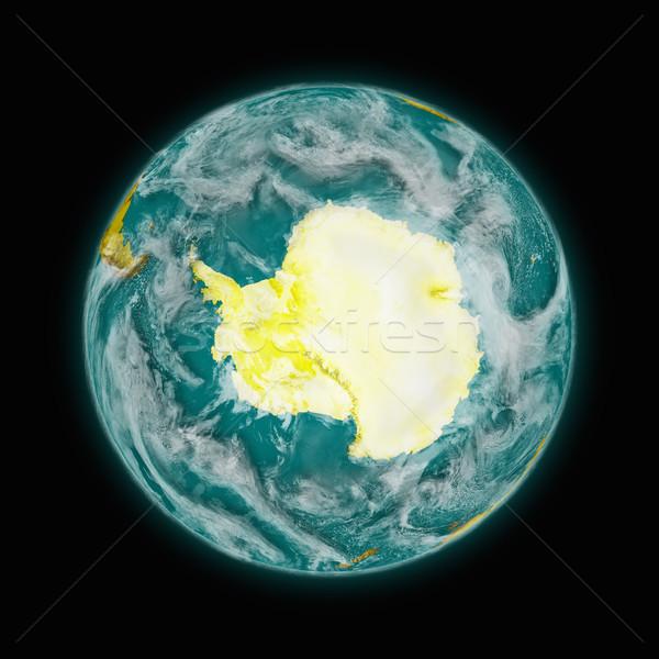 地球 青 孤立した 黒 詳しい ストックフォト © Harlekino