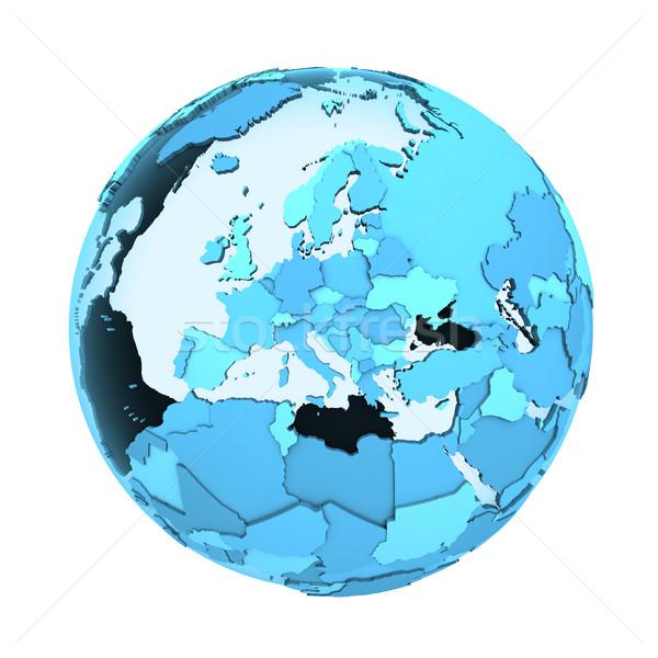 Európa áttetsző Föld modell Föld látható Stock fotó © Harlekino