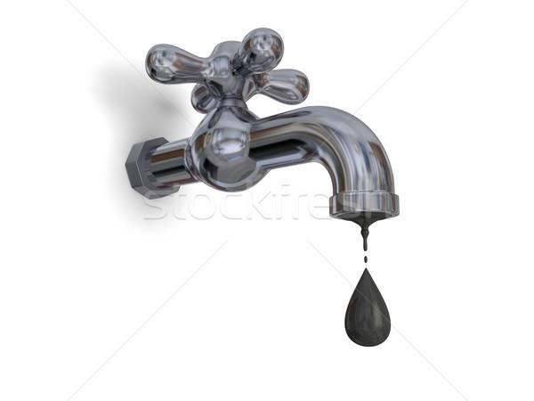 Tap dripping oil Stock photo © Harlekino