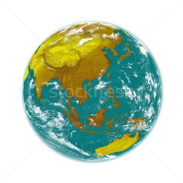 東南アジア 地球 地球 孤立した 白 要素 ストックフォト © Harlekino