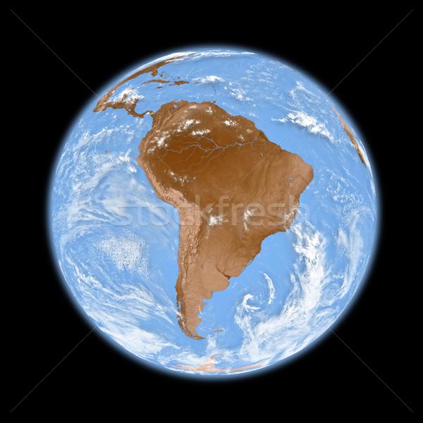 Южной Америке земле планете Земля изолированный черный Элементы Сток-фото © Harlekino