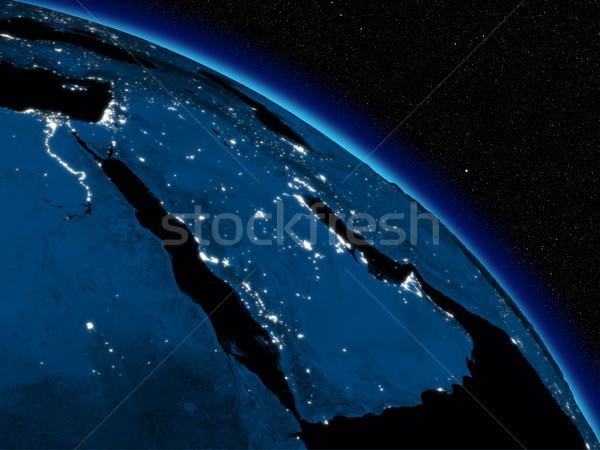ночь арабский полуостров планете Земля пространстве Сток-фото © Harlekino