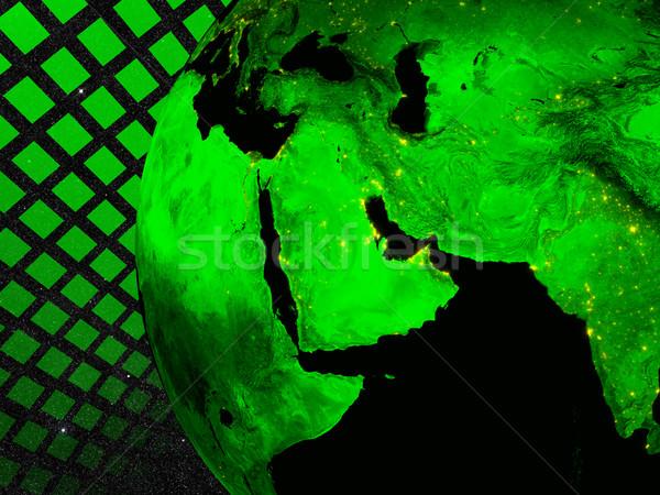 Oriente médio tecnologia região elementos imagem nuvens Foto stock © Harlekino