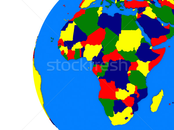 Africaine continent politique monde illustration blanche Photo stock © Harlekino