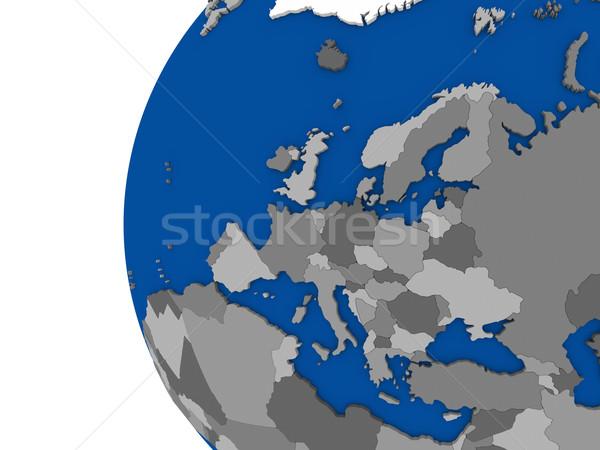 ヨーロッパの 大陸 政治的 世界中 実例 白 ストックフォト © Harlekino