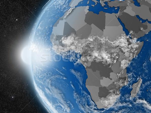 Afrikaanse continent ruimte aarde politiek Stockfoto © Harlekino