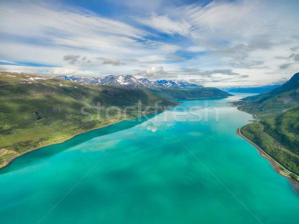 Turkoois noors luchtfoto mooie natuur zee Stockfoto © Harlekino