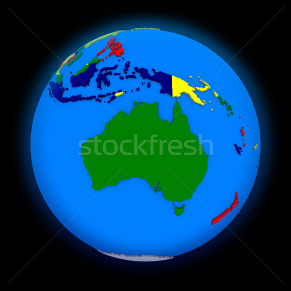 Australia on political Earth Stock photo © Harlekino