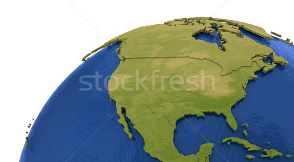 Kuzey amerikan kıta toprak Amerika ayrıntılı Stok fotoğraf © Harlekino