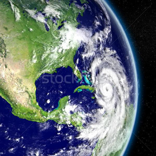 Stockfoto: Orkaan · Florida · amerika · 3d · illustration · communie · afbeelding