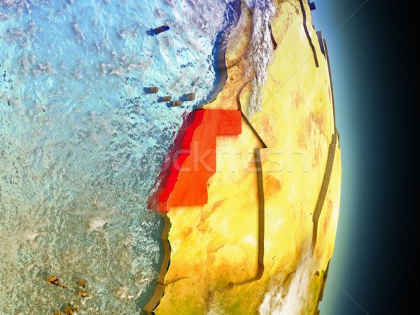 Batı sahara kırmızı uzay model yörünge Stok fotoğraf © Harlekino