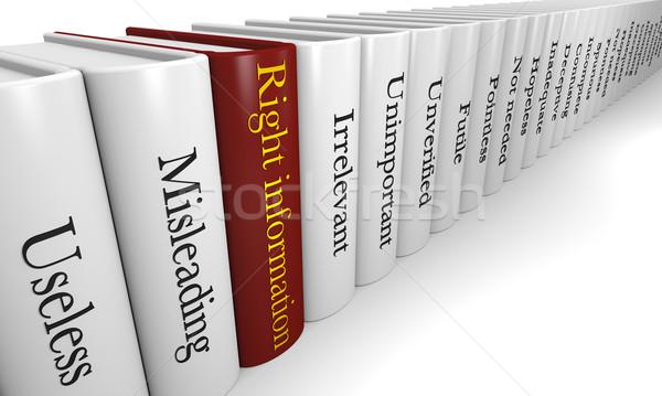 Informação um vermelho livro olhando Foto stock © Harlekino
