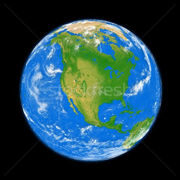 North America on Earth Stock photo © Harlekino