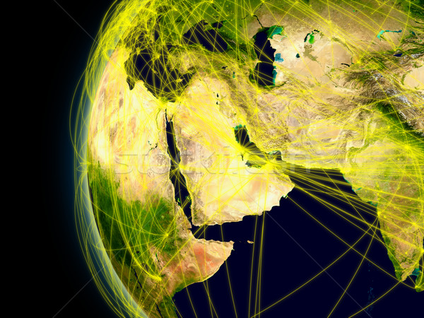 Oriente Medio espacio principal aire tráfico Foto stock © Harlekino