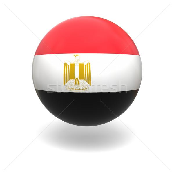 Egyptian flag Stock photo © Harlekino