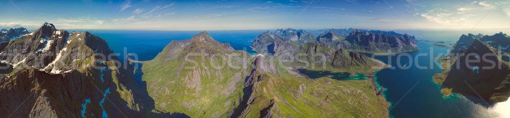 Panorama norueguês paisagem mar Foto stock © Harlekino
