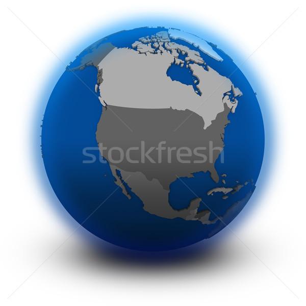 Noorden amerika politiek wereldbol illustratie geïsoleerd Stockfoto © Harlekino