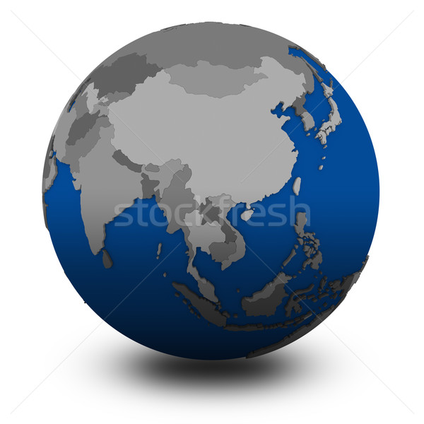 southeast Asia on political globe illustration Stock photo © Harlekino