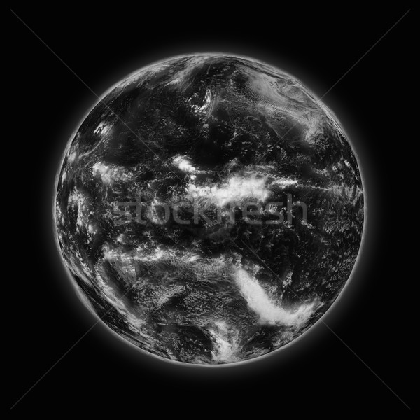 Pacific Ocean on dark planet Earth Stock photo © Harlekino