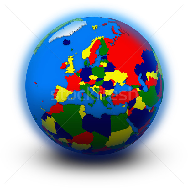 Europe on political globe Stock photo © Harlekino