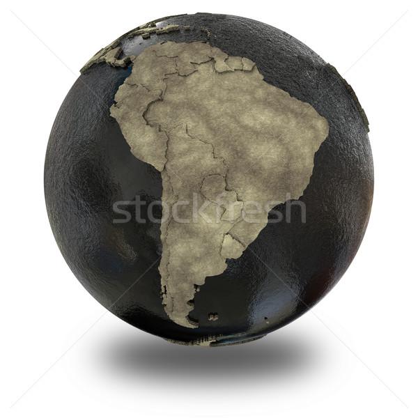 América del sur tierra petróleo 3D modelo planeta tierra Foto stock © Harlekino