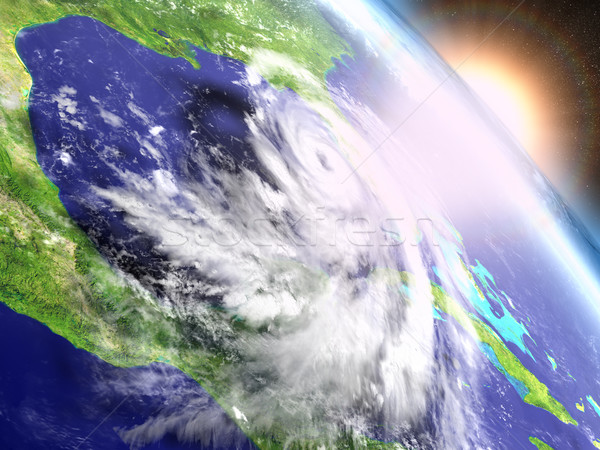 ураган Восход красочный Флорида Америки Сток-фото © Harlekino
