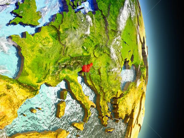 Словения красный пространстве модель орбита 3d иллюстрации Сток-фото © Harlekino