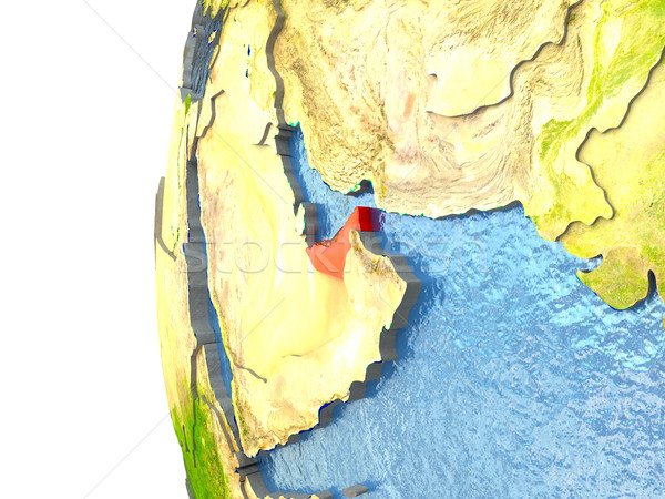 Árabe vermelho globo oceano ilustração 3d Foto stock © Harlekino