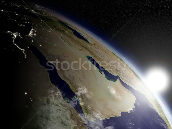 Świt arabski półwysep przestrzeni wysoko szczegółowy Zdjęcia stock © Harlekino