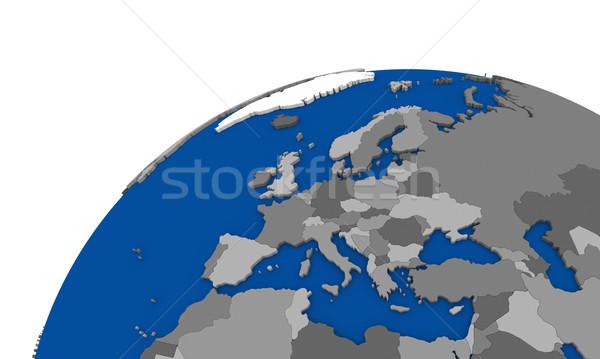 Europe terre politique carte monde Voyage Photo stock © Harlekino