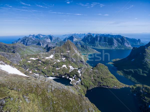 Fjords on Lofoten Stock photo © Harlekino