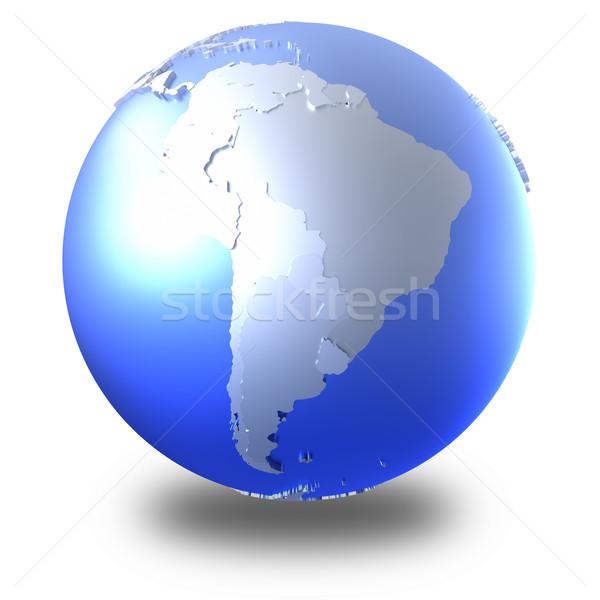Южной Америке ярко металлический земле модель планете Земля Сток-фото © Harlekino