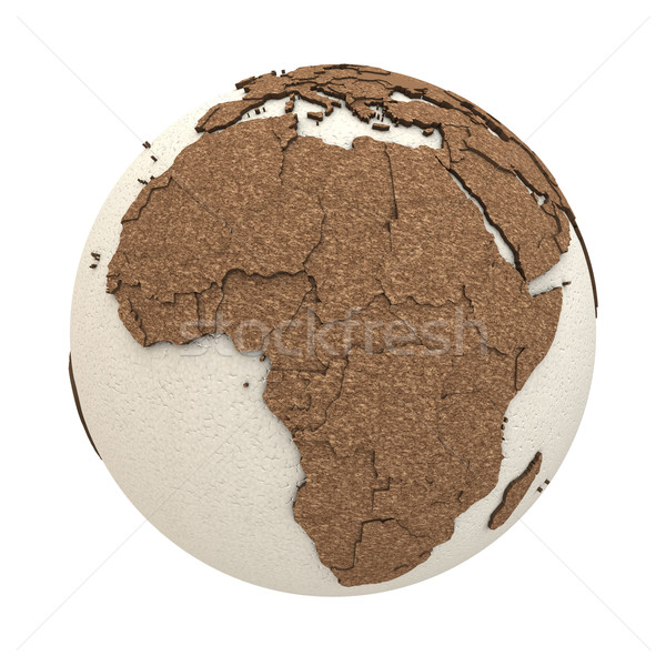 Africa luce terra 3D modello pianeta terra Foto d'archivio © Harlekino