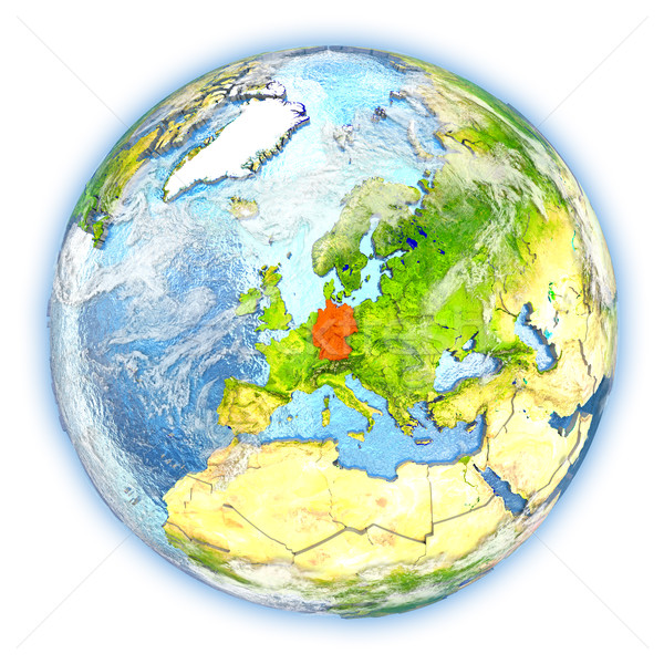 Duitsland aarde geïsoleerd Rood aarde 3d illustration Stockfoto © Harlekino
