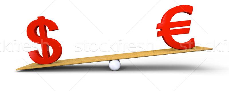 Dollar heavier than euro Stock photo © Harlekino