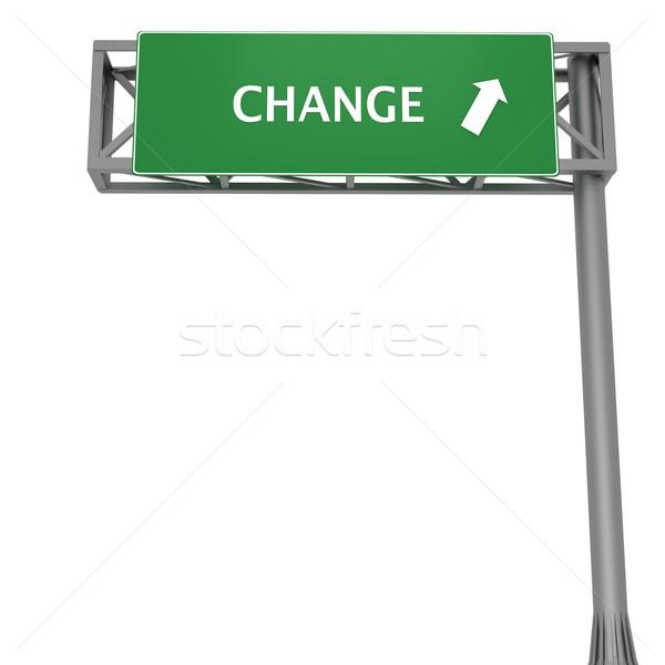 Change signboard Stock photo © Harlekino